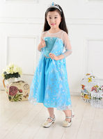 豪華版 冰雪奇緣 Princess Frozen Queen Elsa 愛莎公主 造型cosplay女童裙 919 [小童派對服裝]