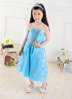 豪華版 冰雪奇緣 Princess Frozen Queen Elsa 愛莎公主 造型cosplay女童裙 925 [小童派對服裝]