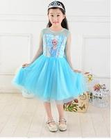 冰雪奇緣 Princess Frozen Queen Elsa 愛莎公主 造型cosplay女童裙 DE02 [小童派對服裝]
