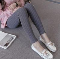 孕婦legging 時尚條紋羊絨孕婦托腹打底褲