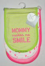 清倉價--carter's carters 嬰兒BB兒童吸汗巾 墊背巾 一組三條 小櫻桃款