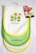 清倉價--carter's carters 嬰兒BB兒童吸汗巾 墊背巾 一組三條 黃色小花款