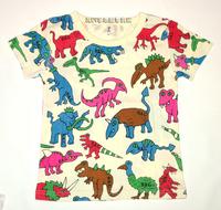 清倉價--日單彩色恐龍短袖上衣 TEE